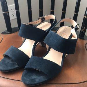 Sole society blue suede cone heels